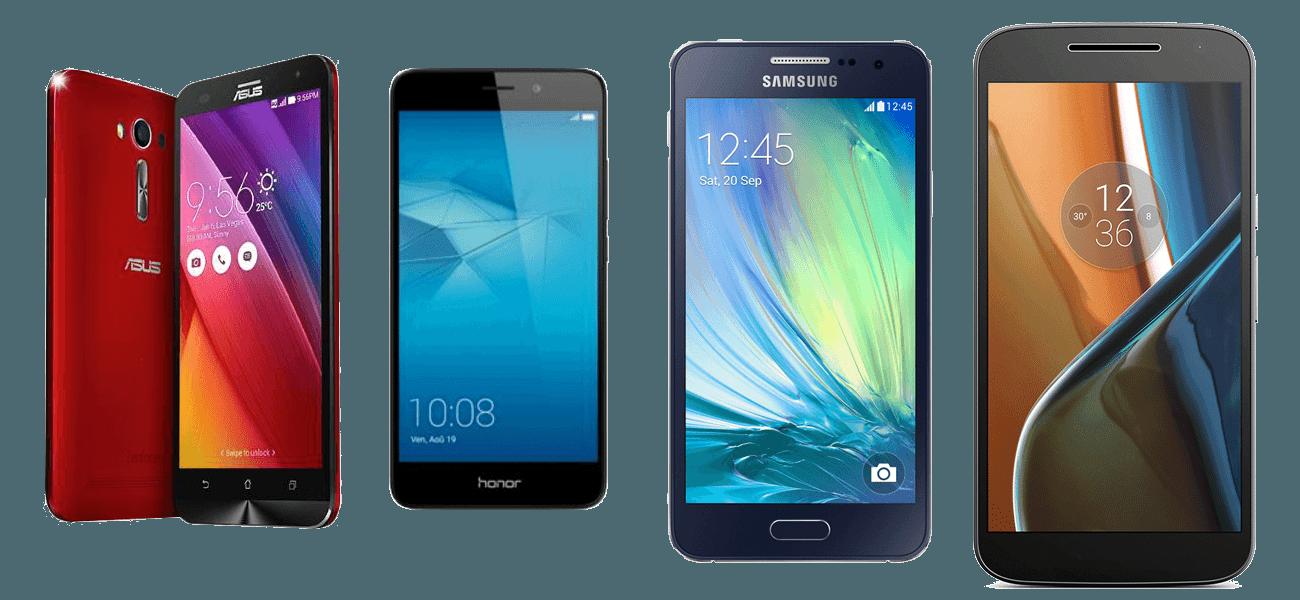 quel smartphone choisir honor 5c galaxy a3 2016 asus zenfone 2 laser et lenovo moto g4. Black Bedroom Furniture Sets. Home Design Ideas