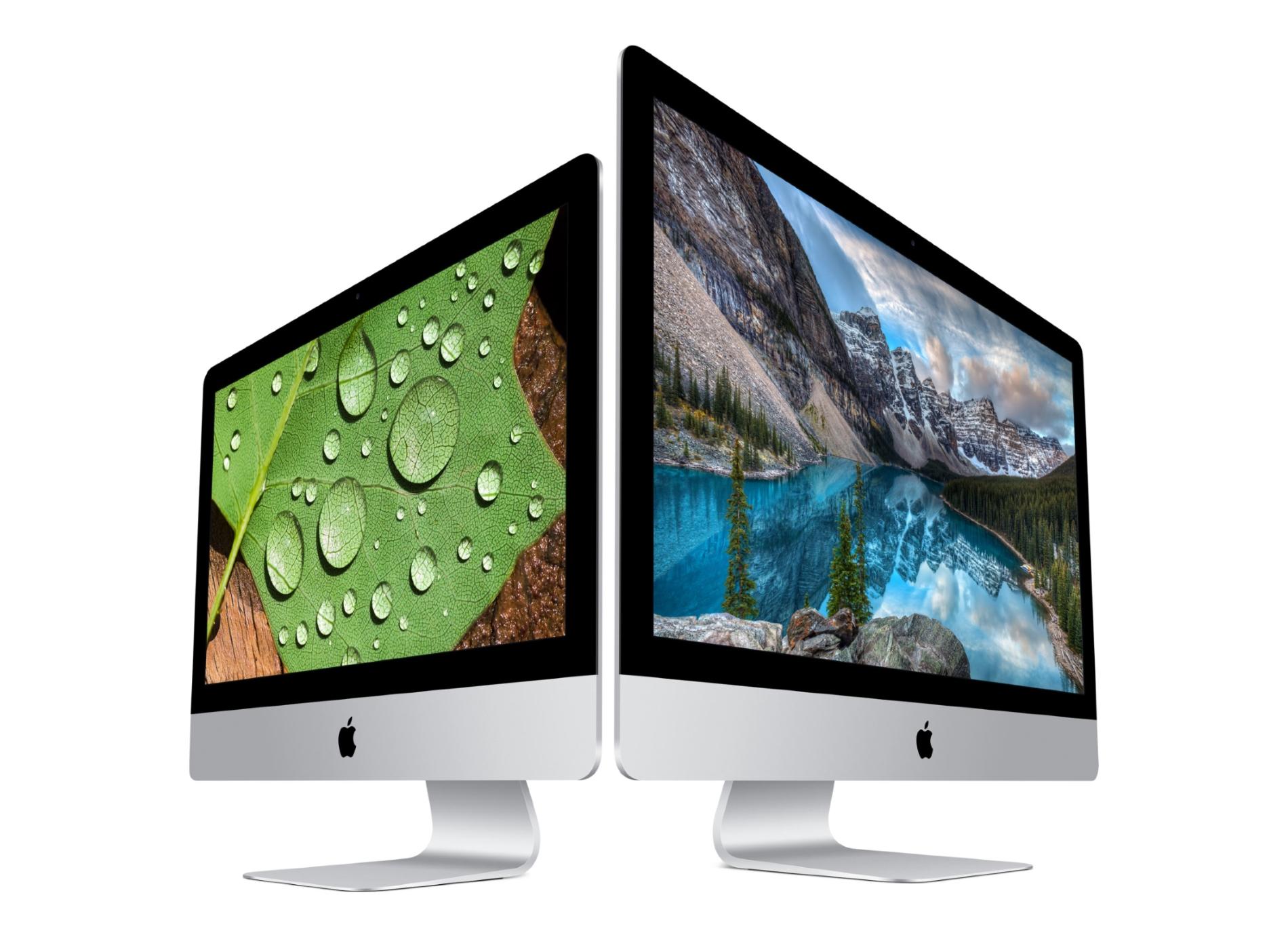 Le design actuel des iMac