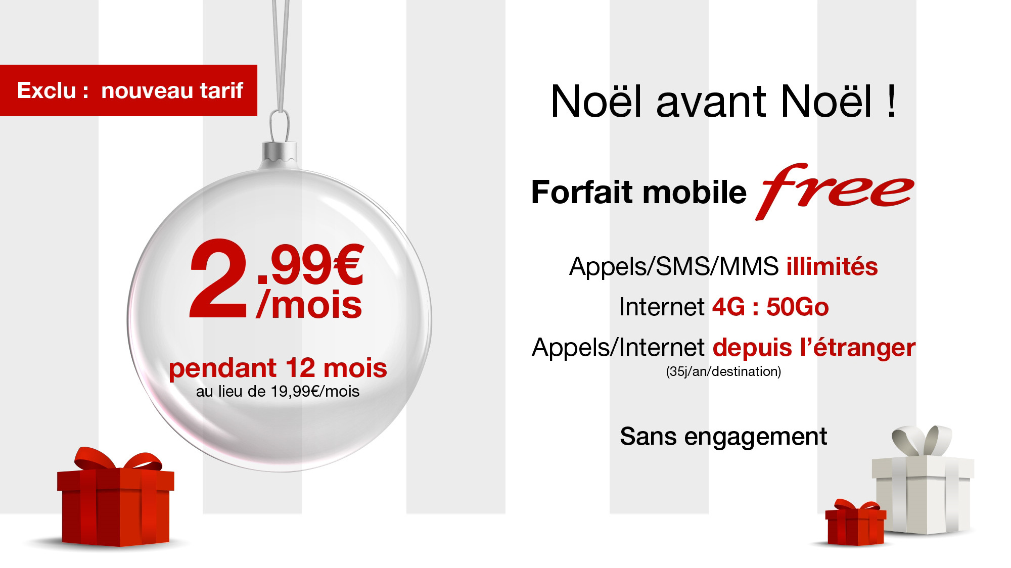 forfait free mobile a 2 99