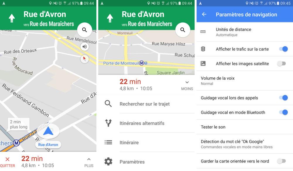 google-maps-navigation-interface