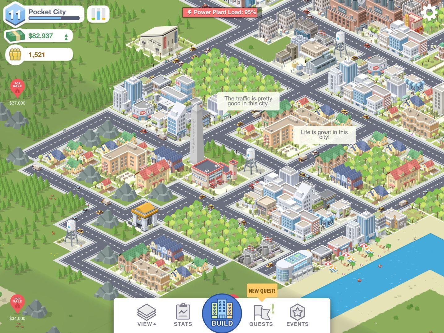Capture d'écran du jeu Pocket City