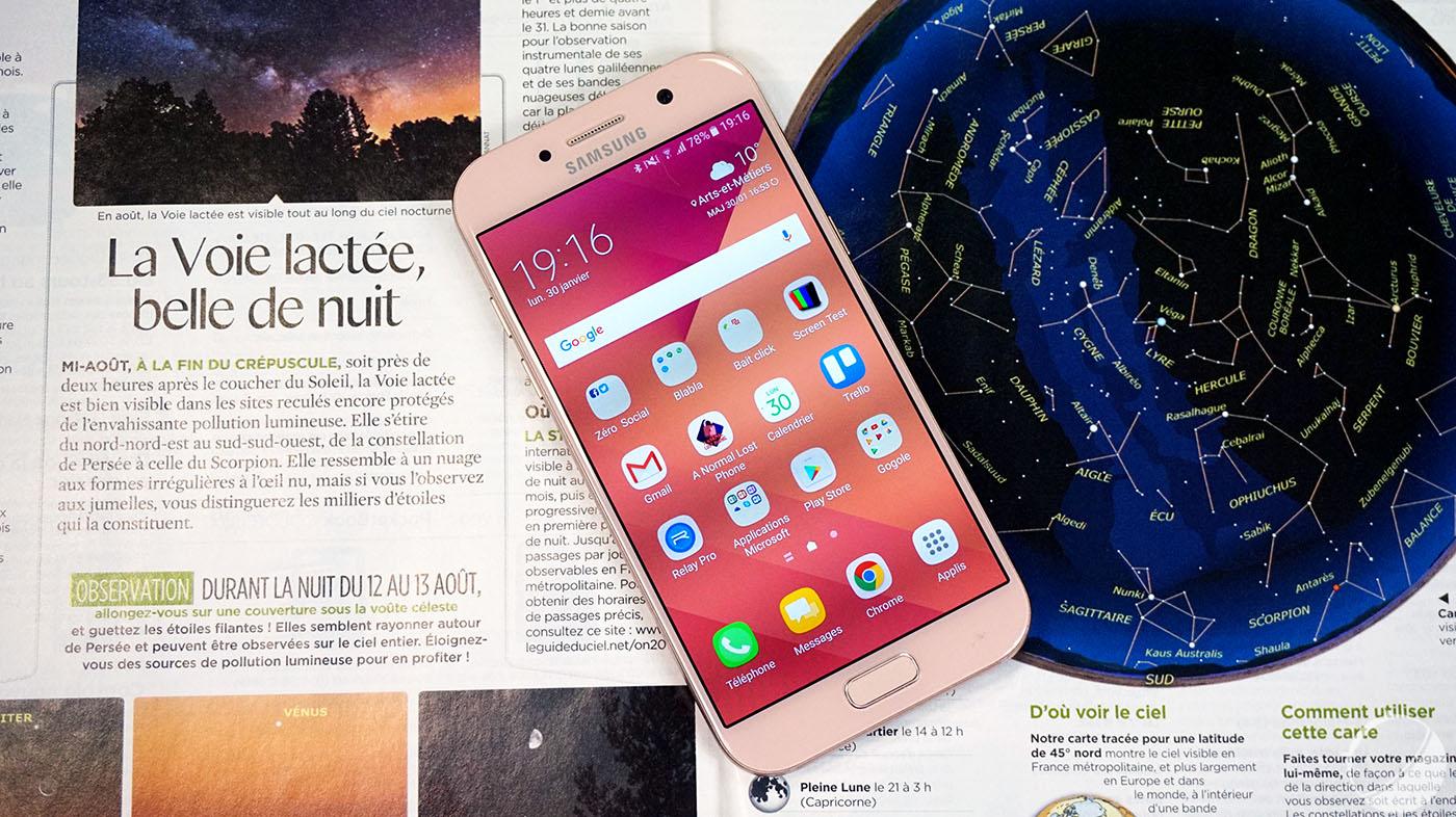 Sorti il y a quelques mois, le Samsung Galaxy A5 2017 commence à bénéficier  de réductions vraiment intéressantes. C est notamment le cas chez Rue du ... 04ef8c8821e6