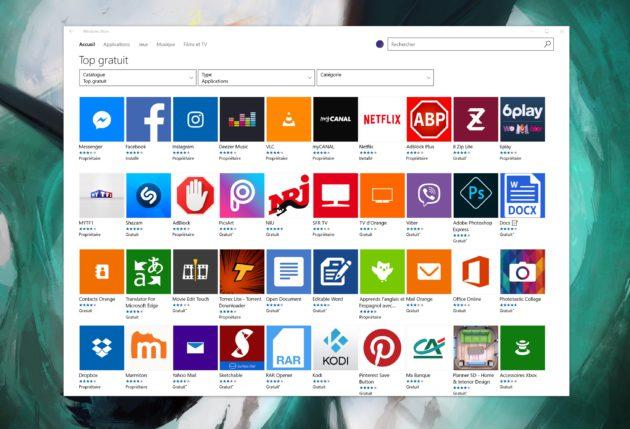 Le Windows Store progresse mais manque toujours d'applciations