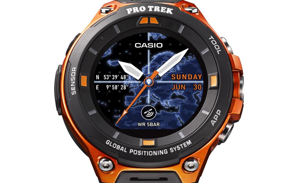 De son nom complet Casio Smart Outdoor Watch WSD-F20, cette nouvelle montre  sous Android Wear se démarque de ses concurrentes grâce à sa forte  résistance et ... d56b7ac78fe4