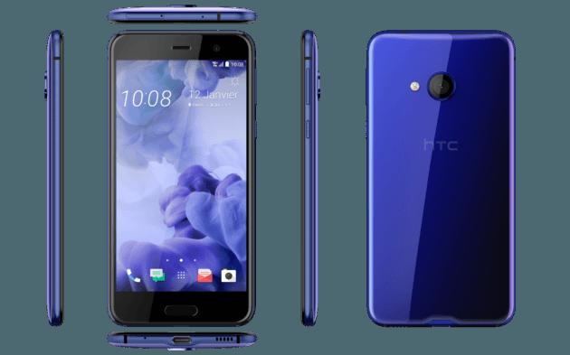 HTC U Play en bleu saphir