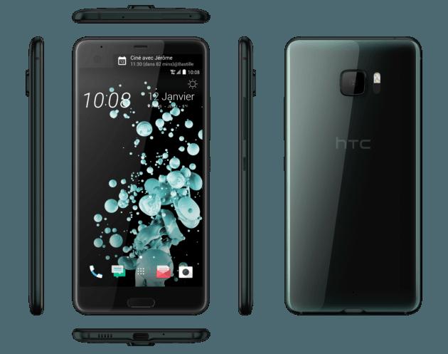 HTC U Ultra en version noire (nacre)