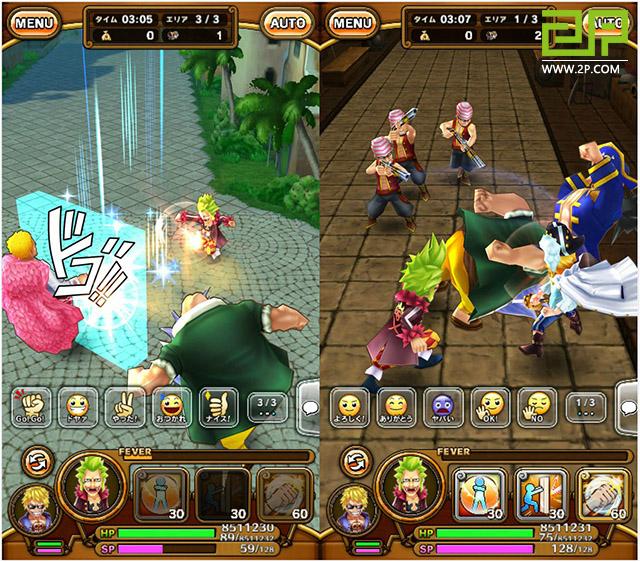 One piece le jeu mobile de bandai namco inspir du manga for Piece en 3d gratuit