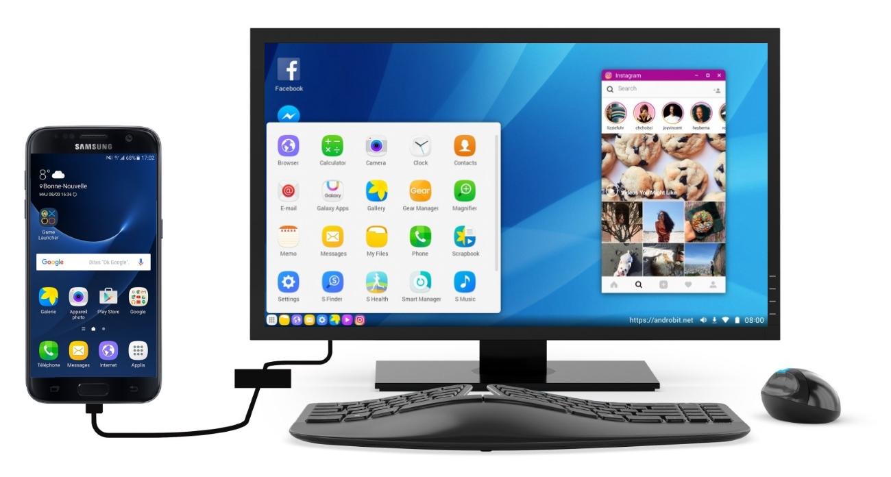 Samsung desktop experience premi re image pour le mode for Photo ecran galaxy s8