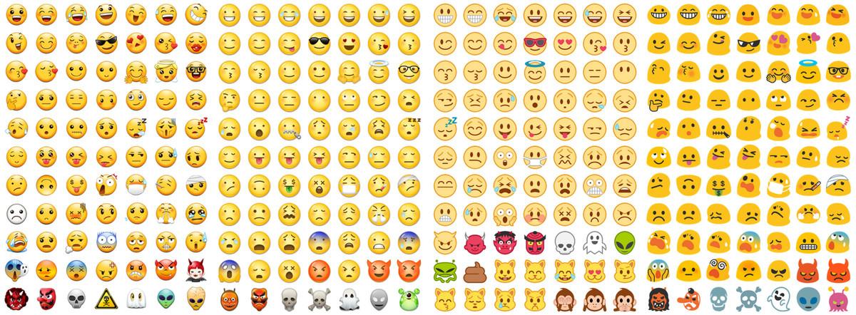 Les emojis sur Android, le problème de fragmentation en
