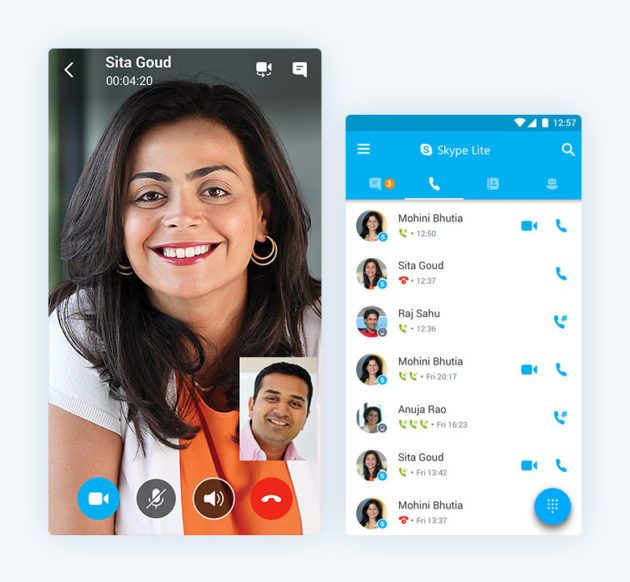 application android pour skype