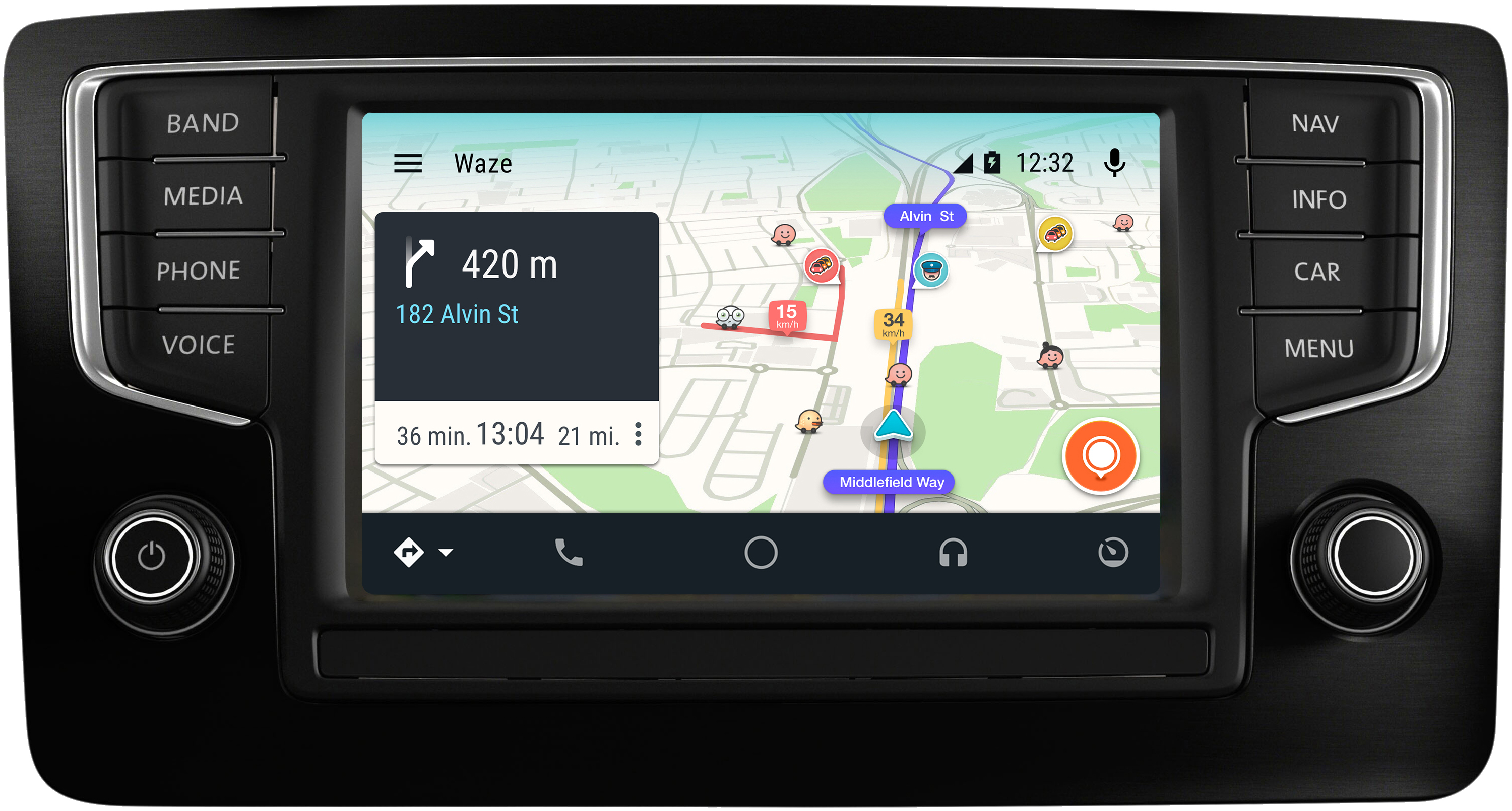 waze s 39 invite sur le gps des ford peugeot toyota mwc 2017 frandroid. Black Bedroom Furniture Sets. Home Design Ideas