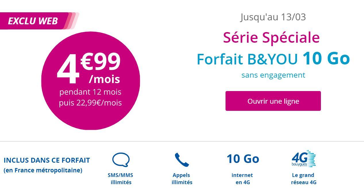 bon plan b you lance une s rie sp ciale 10 go 4 99 euros par mois frandroid. Black Bedroom Furniture Sets. Home Design Ideas