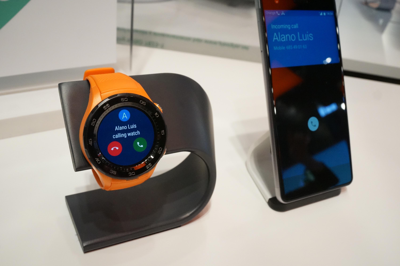 huawei watch 2 on a test la fonction multi sim appels internet d 39 orange mwc 2017 frandroid. Black Bedroom Furniture Sets. Home Design Ideas