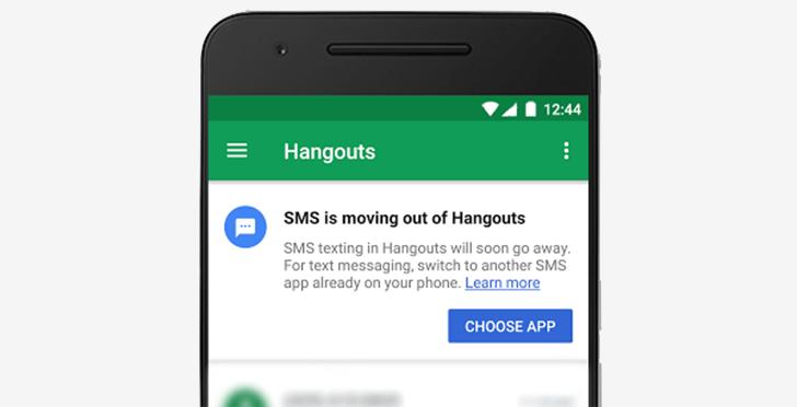 Google va supprimer la fonctionnalité SMS de Hangouts