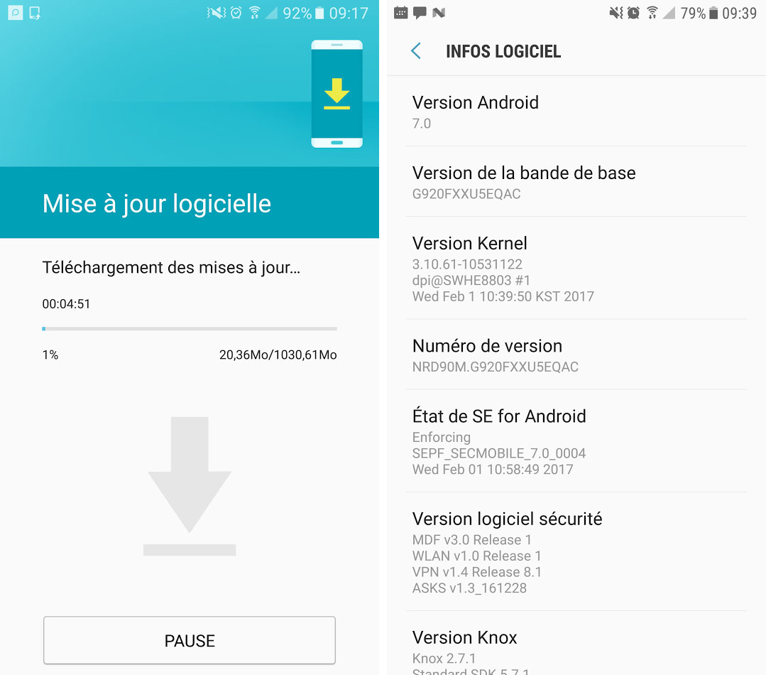 Samsung Galaxy S6 : Android 7 0 Nougat commence à être déployé