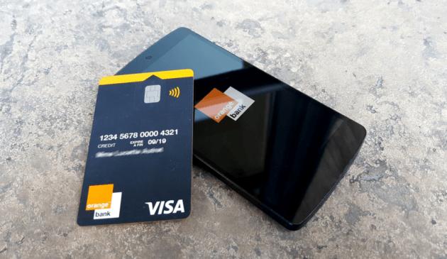 Orange Bank avec la carte bancaire offerte