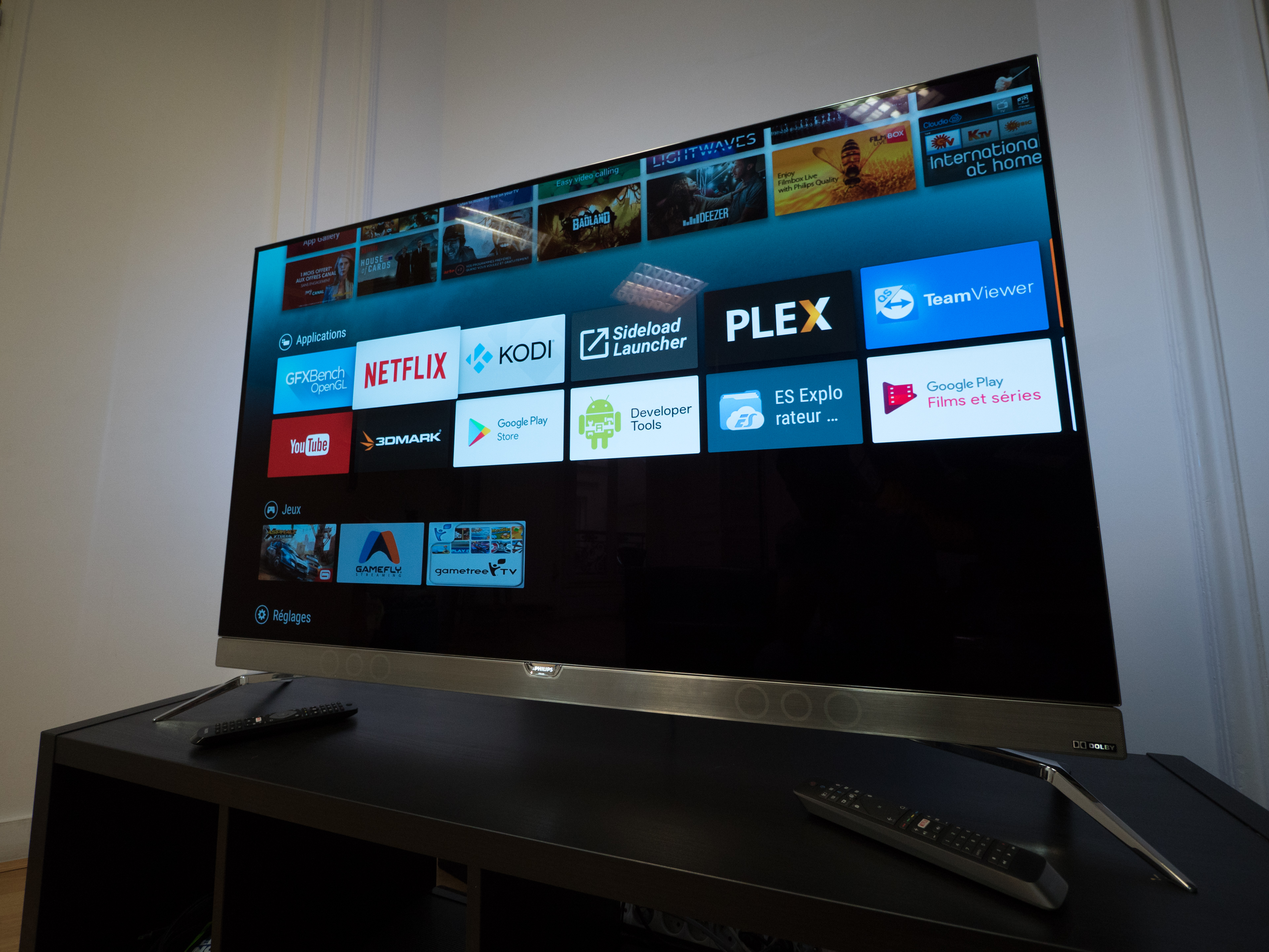 test du t l viseur oled android tv philips 55pos901f. Black Bedroom Furniture Sets. Home Design Ideas