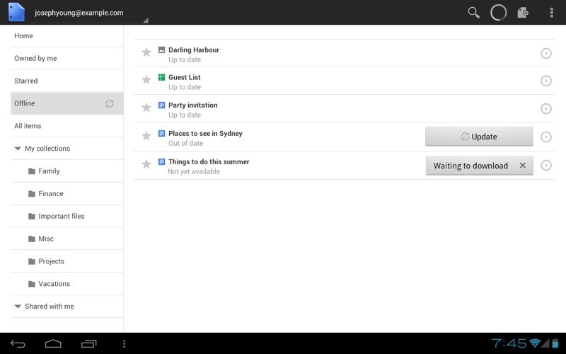 mise a jour de google documents sous android frandroid With google docs in android
