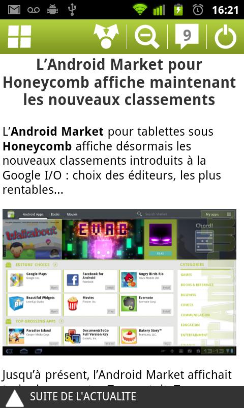 la nouvelle application frandroid sur l 39 android market frandroid. Black Bedroom Furniture Sets. Home Design Ideas