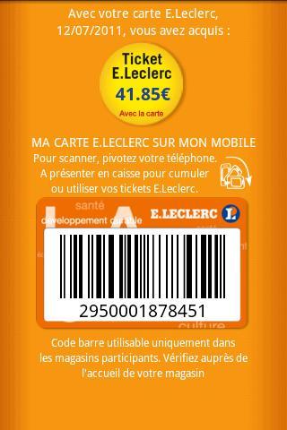 Numero Carte Leclerc.Les Magasins Leclerc Dans Une Application Android Frandroid