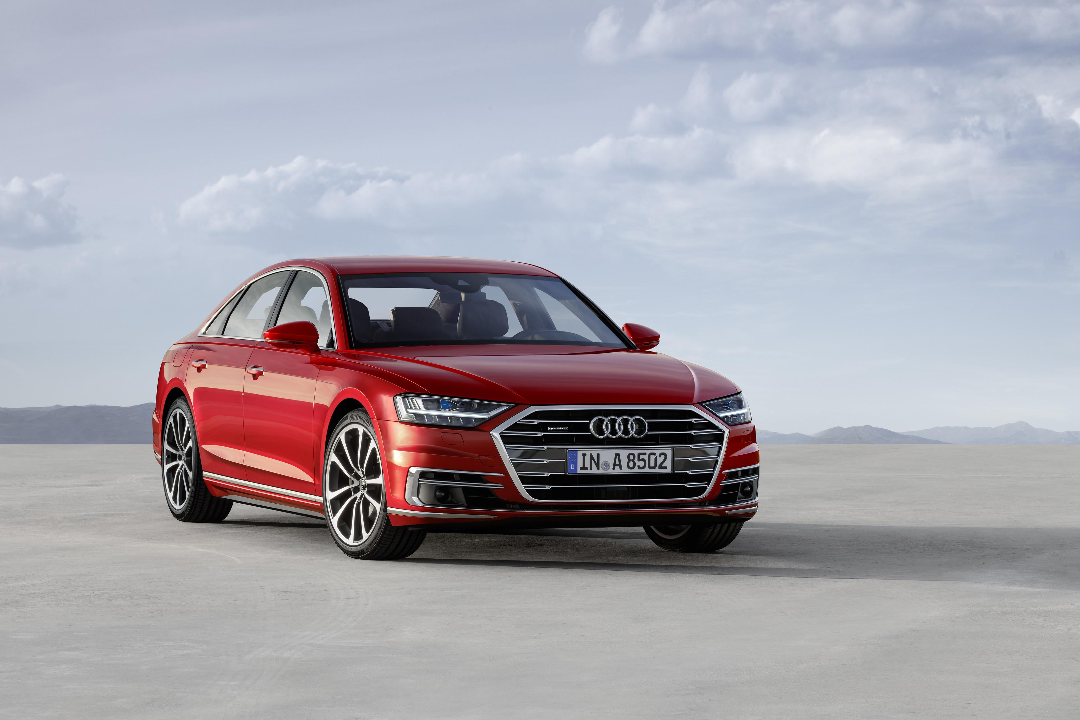 L'Audi A8 telle qu'elle est vendue actuellement.