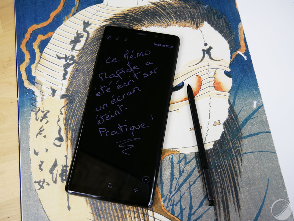 Note Express sur Galaxy Note 8