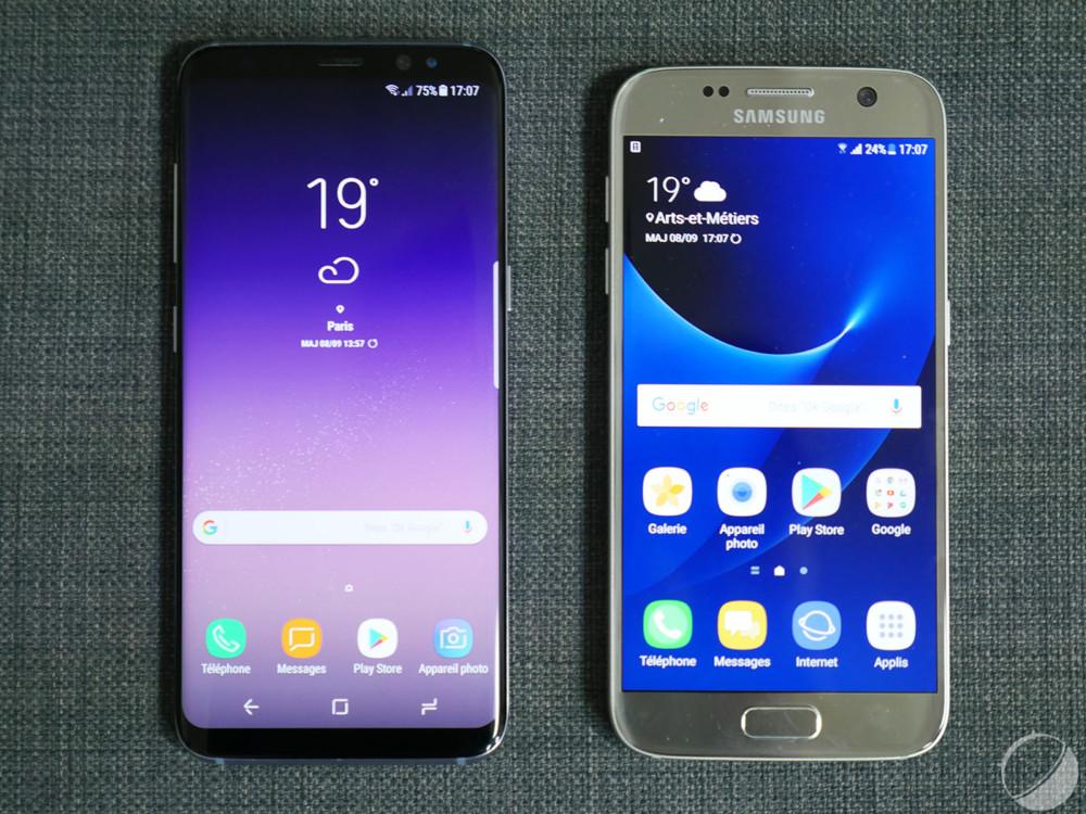Samsung galaxy s8 six mois apr s une touche de la for Photo ecran galaxy s8