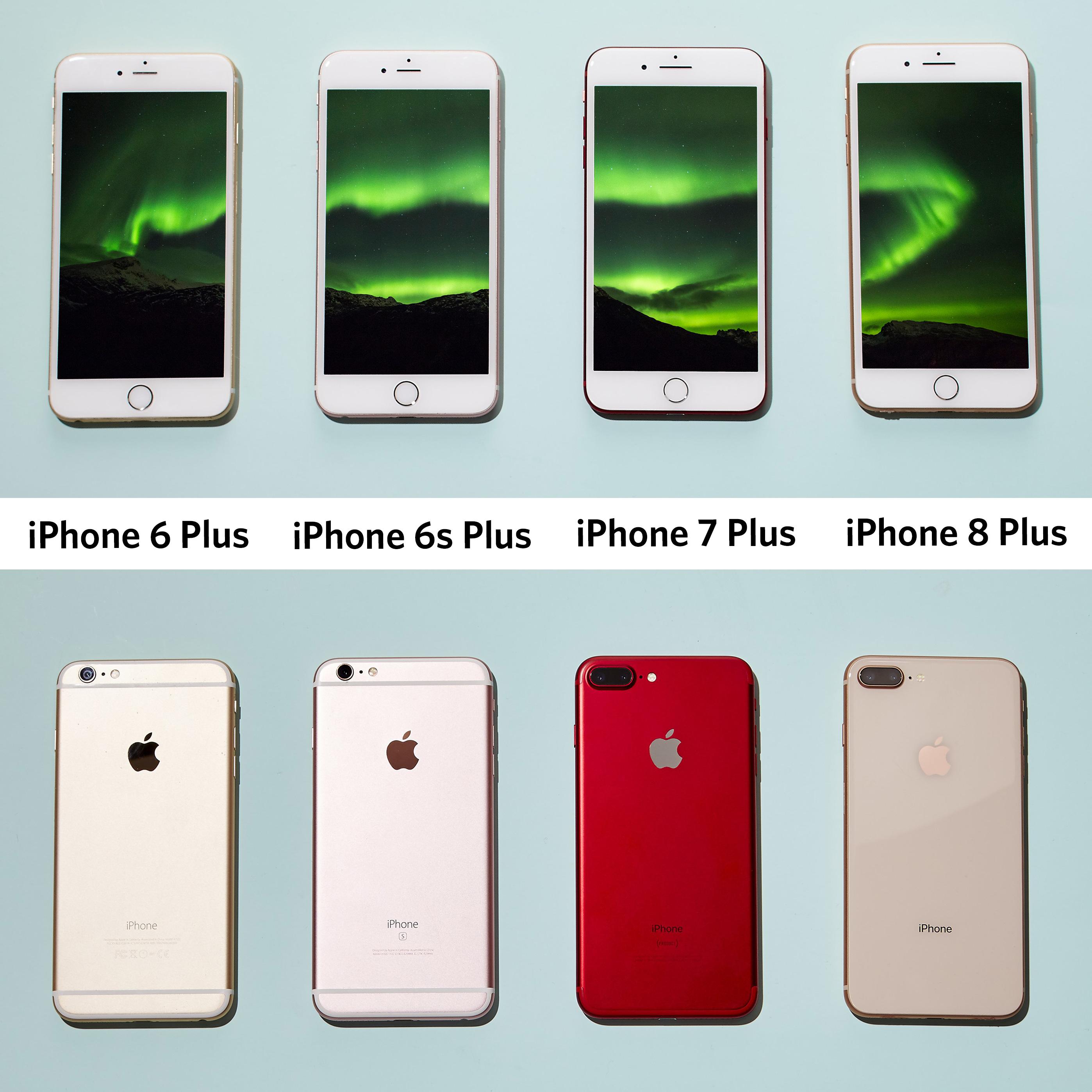 fiche technique iphone 7 plus vs iphone 8 plus