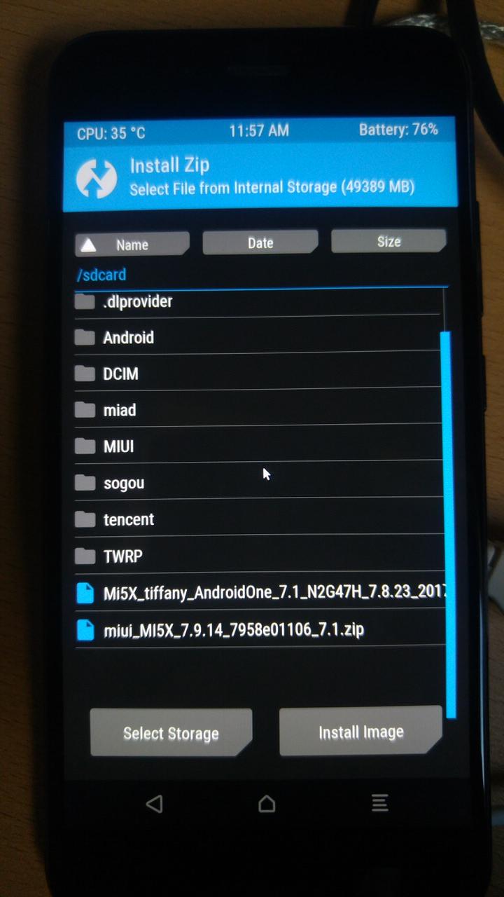 Tuto Comment Installer La Rom Android One Du Xiaomi Mi