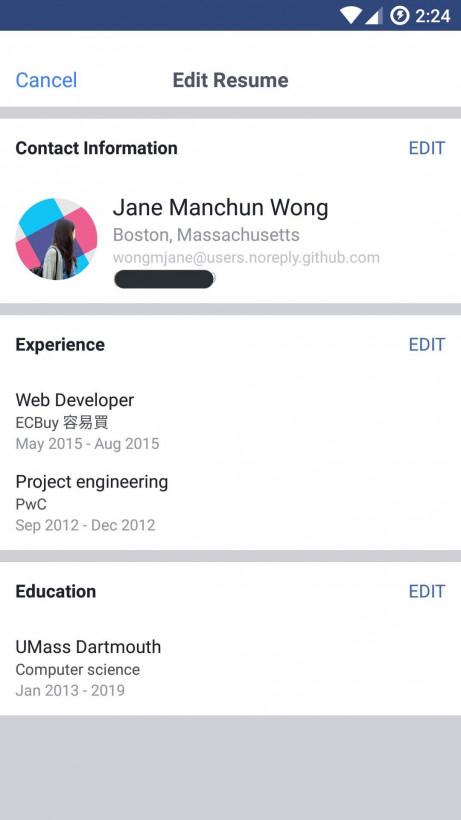 facebook s u0026 39 inspire de linkedin et teste une fonction pour renseigner son cv sur son profil