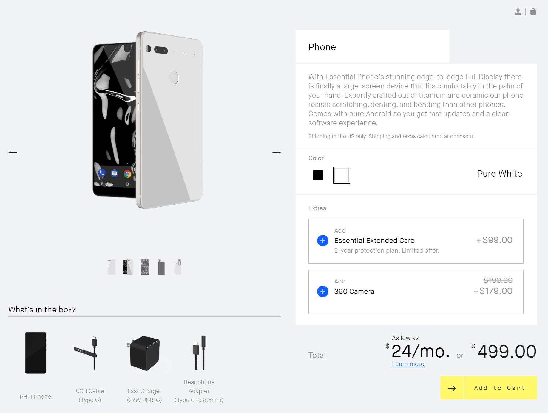 l 39 essential phone baisse drastiquement son prix pour concurrencer oneplus frandroid. Black Bedroom Furniture Sets. Home Design Ideas