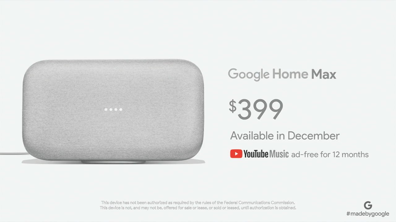 google home max la r ponse l 39 apple homepod frandroid. Black Bedroom Furniture Sets. Home Design Ideas