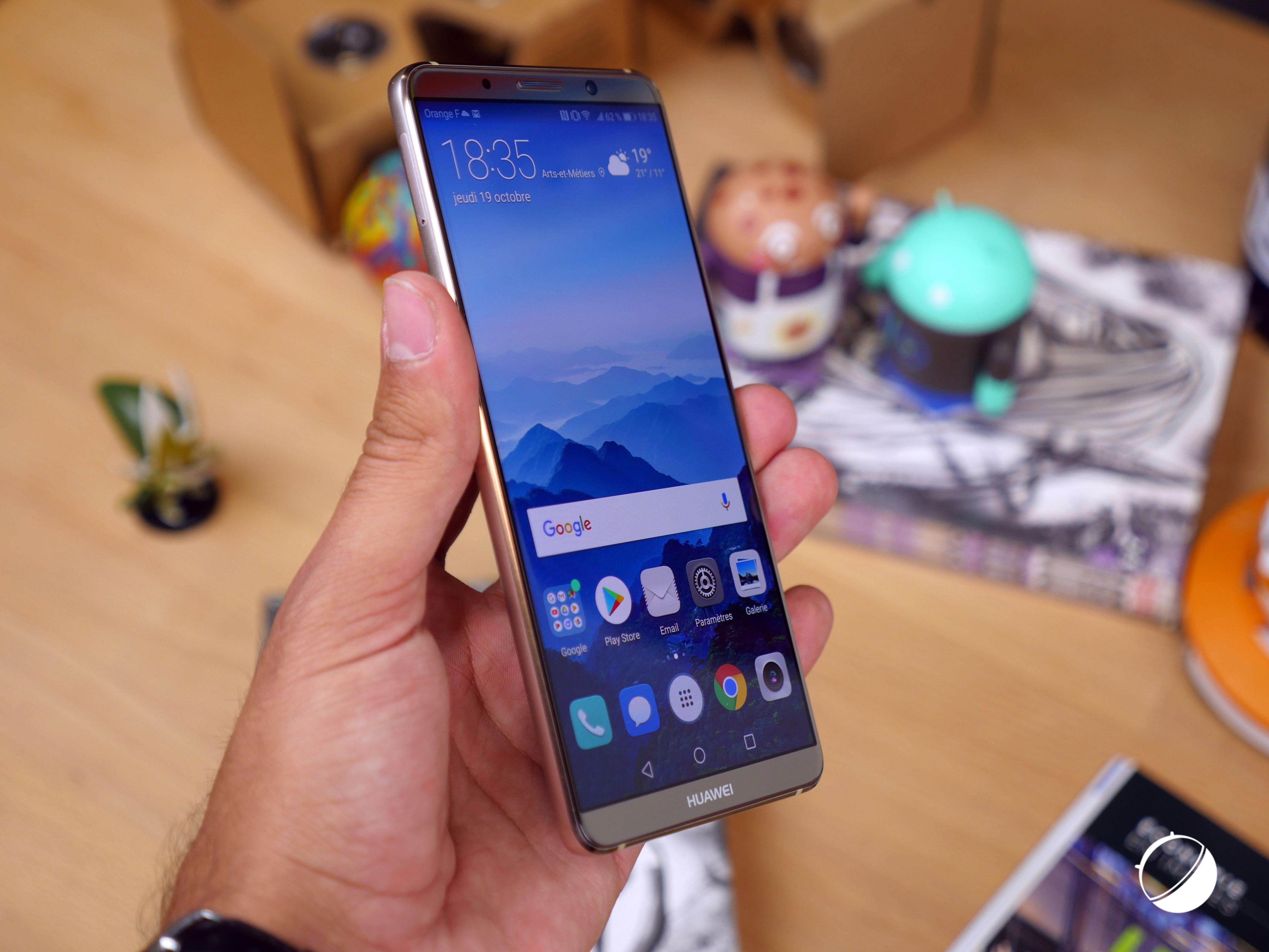 Huawei Mate 20 : Kirin 980, recharge sans fil, scanner sous