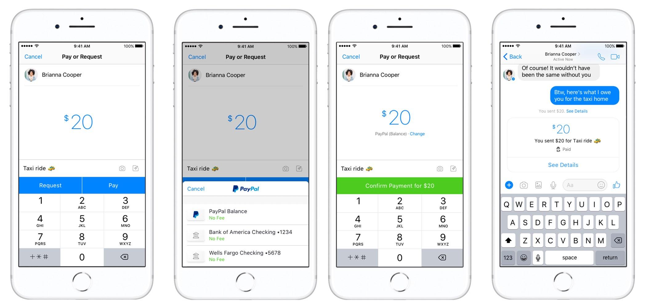 paypal s 39 associe facebook pour contrer apple pay cash sur les paiements entre particuliers. Black Bedroom Furniture Sets. Home Design Ideas