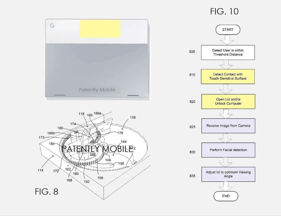 Google brevette un ordinateur portable avec une charnière intelligente