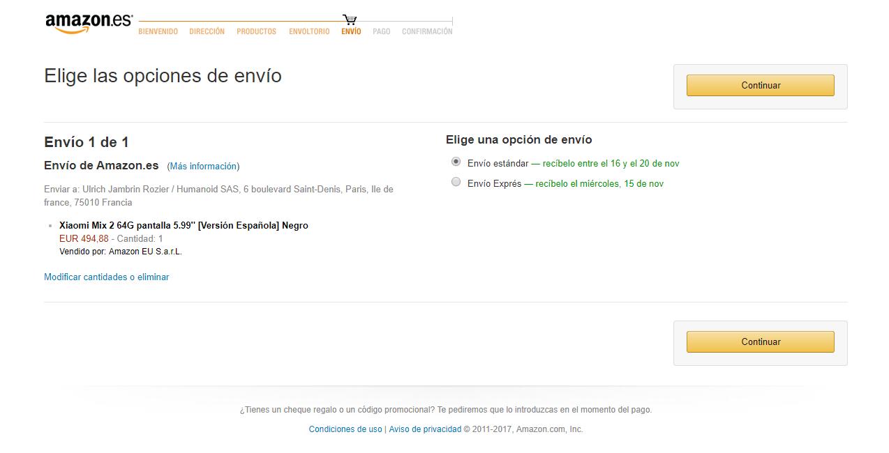 Xiaomi Mi Mix 2 Disponible Sur Amazon Espagne 224 500