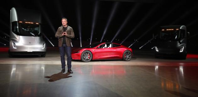 La Tesla Roadster, présentée en novembre 2017