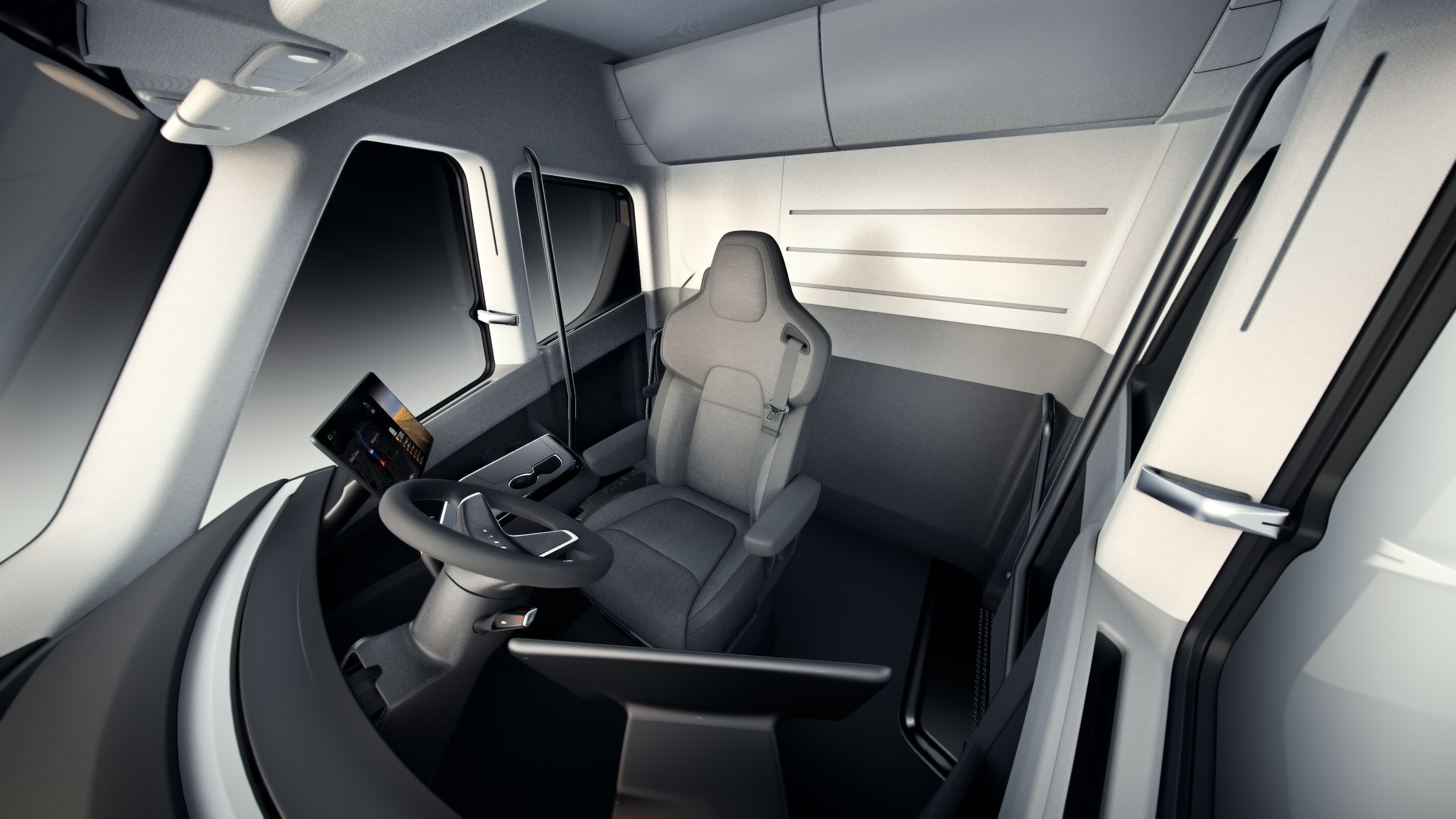 tesla semi comment tesla rel ve les d fis du camion du futur frandroid. Black Bedroom Furniture Sets. Home Design Ideas