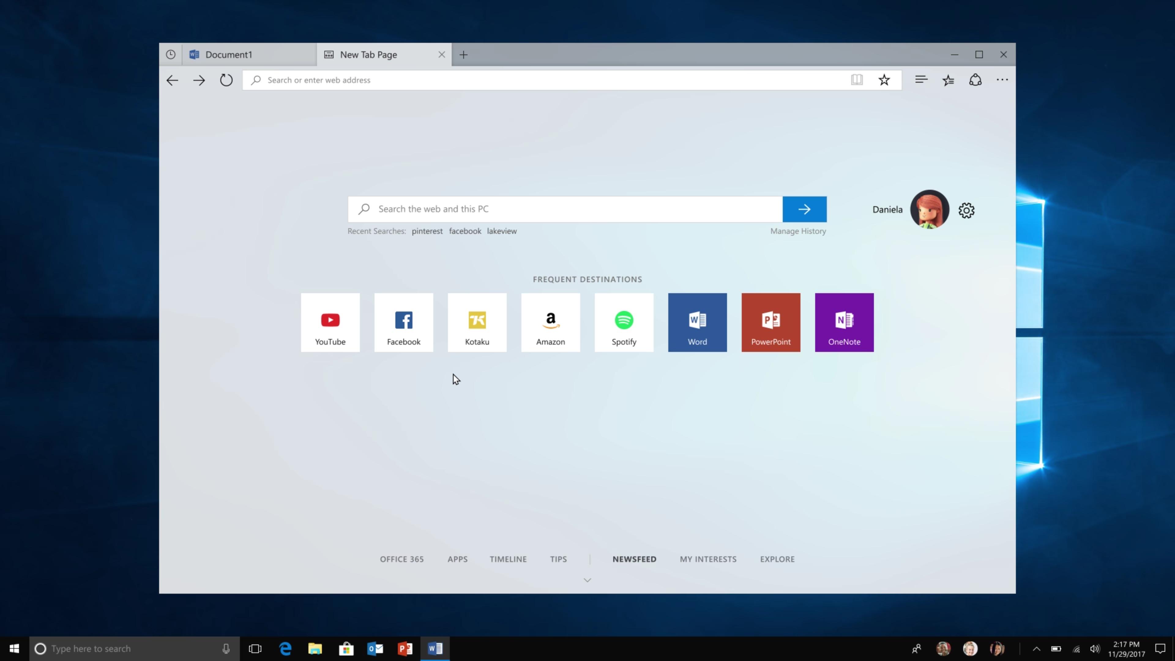 Edge, le navigateur de Microsoft, est disponible dans l'App Store