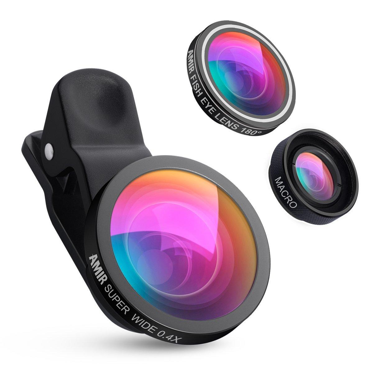 Il comprend une lentille super grand-angle avec un angle à 140° et un  grossissement de 0.4X, une lentille fisheye avec un angle de 180°et une  lentille pour ... 435d3612df71