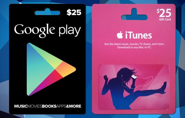 Comment acheter une e-carte Google Play ou App Store/iTunes