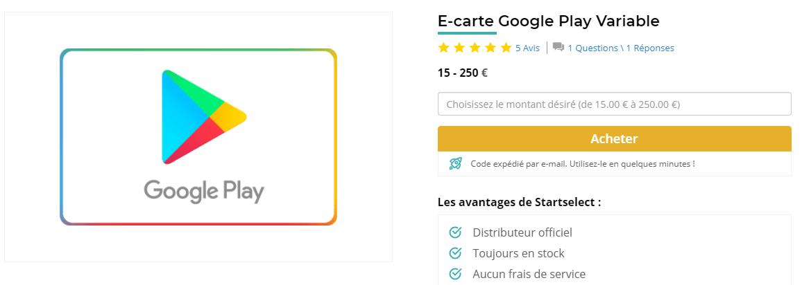 Comment Acheter Une E Carte Google Play Ou App Storeitunes
