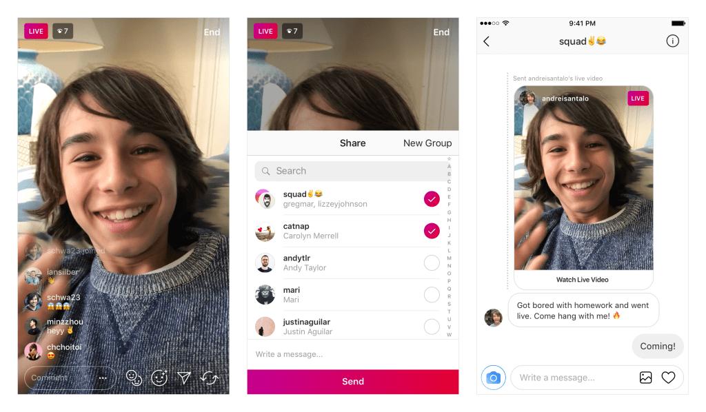 Vous pouvez désormais partager des lives dans Direct — Instagram