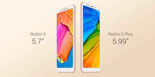 Xiaomi redmi 5 et 5 Plus
