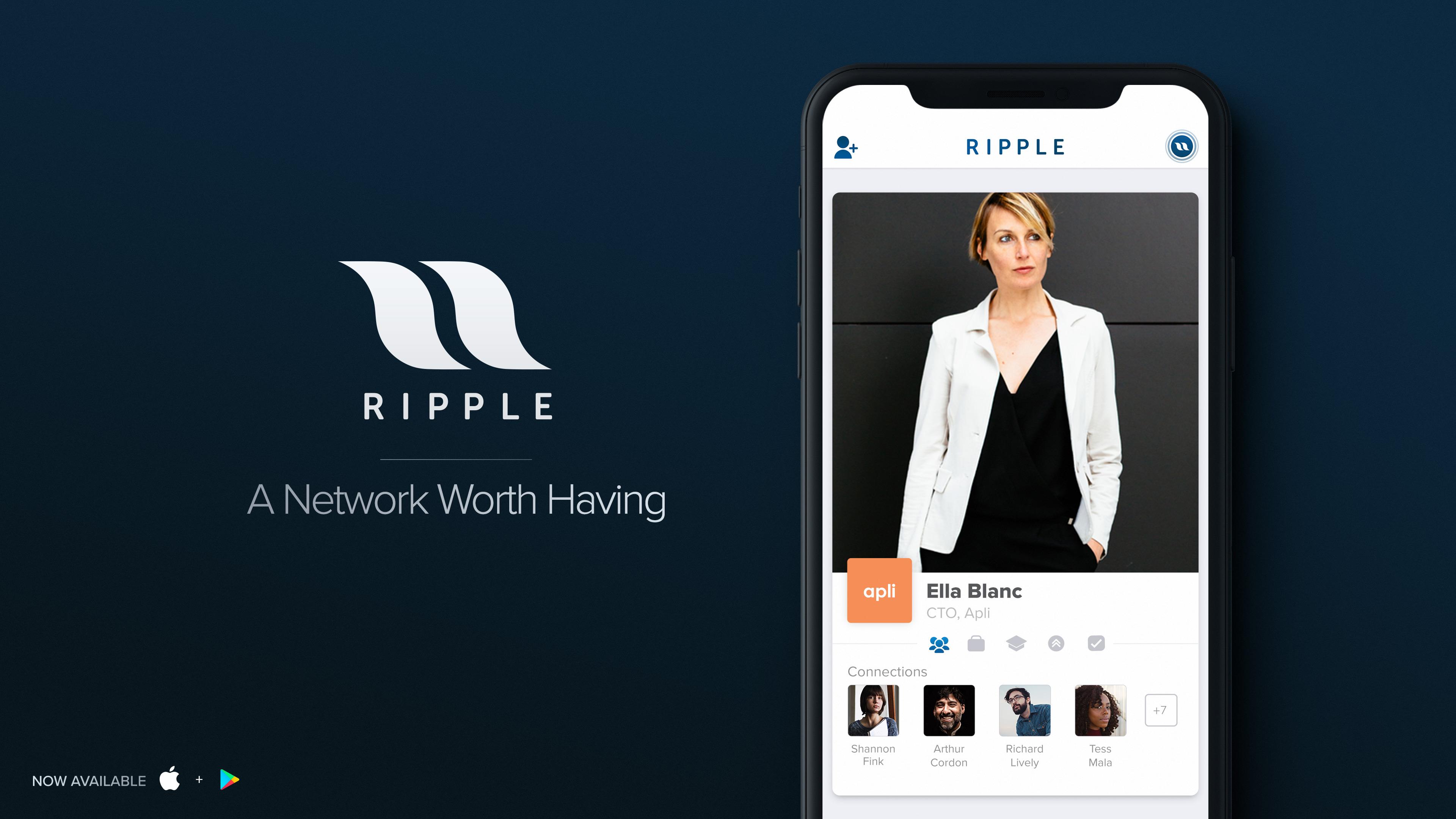 Des anciens employés de Tinder lancent une application de networking — Ripple