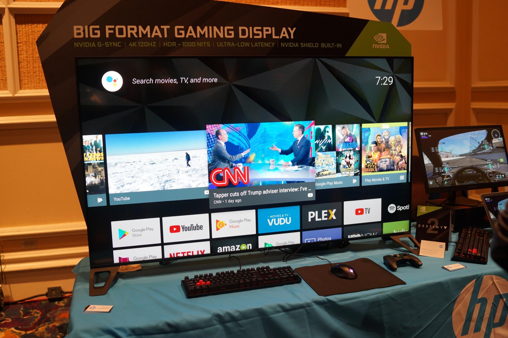 hp omen x 65 voici l 39 cran 65 pouces 4k 120 hz hdr pour les gamers sous android tv frandroid. Black Bedroom Furniture Sets. Home Design Ideas