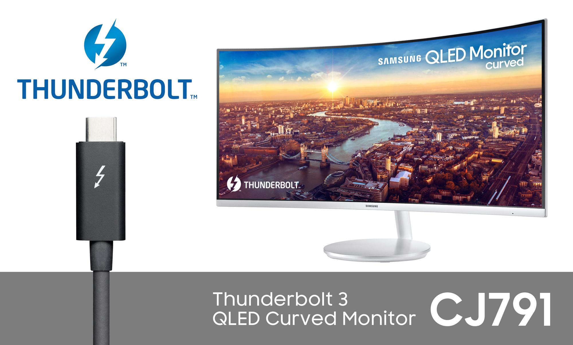 CES 2018 : Samsung dévoile un nouvel écran QLED incurvé ...