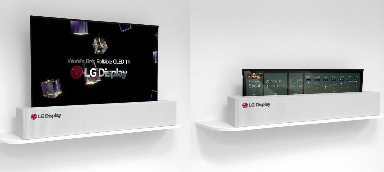 ces 2018 lg d voile une tv oled de 65 pouces qui s. Black Bedroom Furniture Sets. Home Design Ideas
