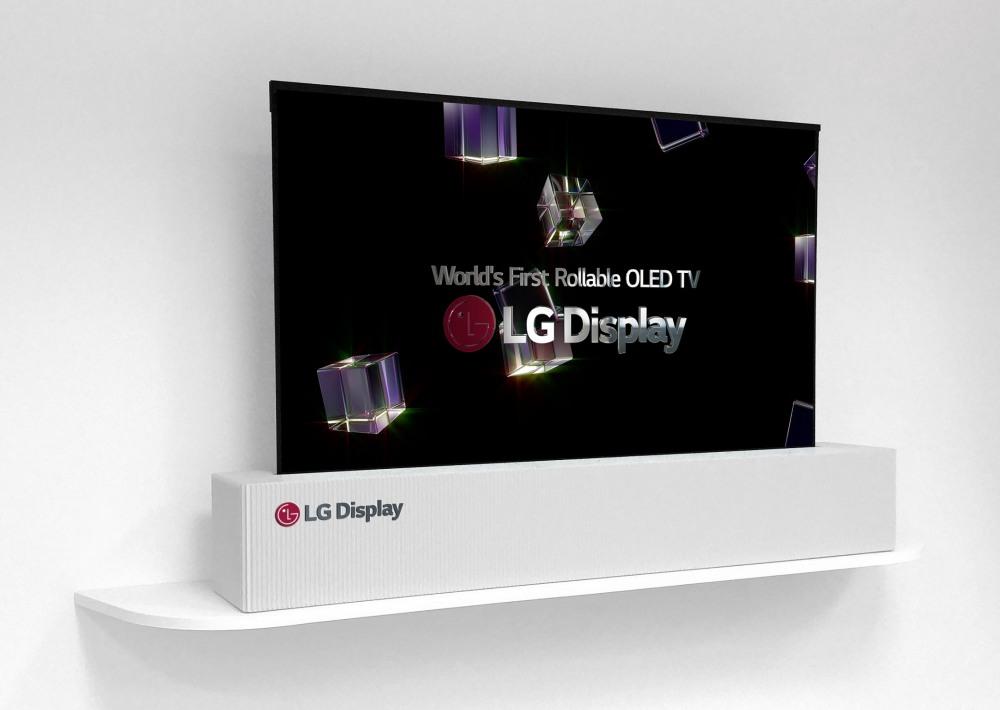 LG va présenter un écran OLED enroulable comme du papier
