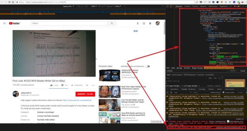 Du cryptojacking avec des pubs YouTube